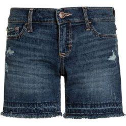 Abercrombie & Fitch CORE PLAY LENGTH Szorty jeansowe dark destroy. Niebieskie szorty jeansowe damskie Abercrombie & Fitch. Za 129,00 zł.