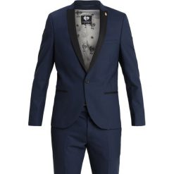 Twisted Tailor DUNSTER TUX Garnitur navy. Niebieskie garnitury Twisted Tailor, z elastanu. Za 1089,00 zł.