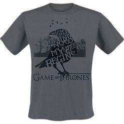 T-shirty męskie z nadrukiem: Gra o Tron The Night Gathers T-Shirt ciemnoszary