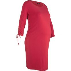 Sukienka ciążowa shirtowa bonprix ciemnoczerwony. Zielone sukienki ciążowe marki bonprix, w kropki, z kopertowym dekoltem, kopertowe. Za 49,99 zł.