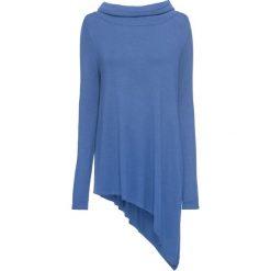 Sweter z dłuższym bokiem bonprix jasny indygo. Niebieskie golfy damskie bonprix. Za 49,99 zł.