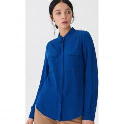 Gładka koszula - Niebieski. Niebieskie koszule damskie House, l. Za 59,99 zł.
