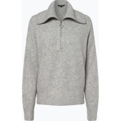 Review - Sweter damski, szary. Czerwone swetry klasyczne damskie marki Review, xs, z wełny, z kołnierzem typu troyer. Za 179,95 zł.