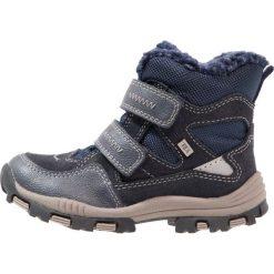 Lurchi TIMOTEX Śniegowce navy. Czarne buty zimowe chłopięce marki Lurchi, z materiału. W wyprzedaży za 199,20 zł.