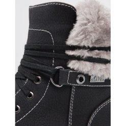 S.Oliver RED LABEL Botki sznurowane black. Czarne buty zimowe damskie marki s.Oliver RED LABEL, z materiału, na sznurówki. W wyprzedaży za 181,35 zł.
