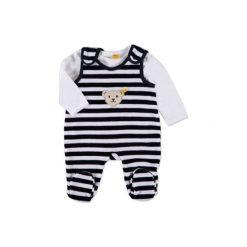 Steiff  Baby Nicki Śpioszki 2-częściowe marine - niebieski. Niebieskie śpiochy niemowlęce marki Steiff, z bawełny. Za 139,00 zł.