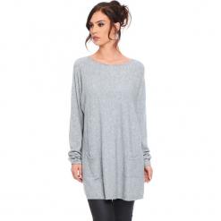 """Sweter """"Marlone"""" w kolorze szarym. Szare swetry klasyczne damskie marki Cosy Winter, s, ze splotem, z okrągłym kołnierzem. W wyprzedaży za 181,95 zł."""