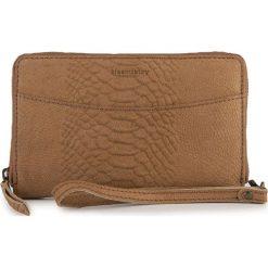 Portfele damskie: Skórzany portfel w kolorze brązowym – 19 x 11 x 3 cm