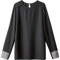 Bluzki asymetryczne: Bluzka z długim rękawem, szczegół cekiny na nadgarstku