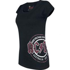 AC/DC EMP Signature Collection Koszulka damska czarny. Czarne bralety AC/DC, xl, z nadrukiem, z okrągłym kołnierzem. Za 99,90 zł.