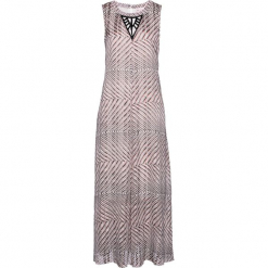 Sukienka wieczorowa z nadrukiem bonprix szaro-matowy jasnoróżowy. Szare sukienki koktajlowe bonprix, z aplikacjami. Za 124,99 zł.