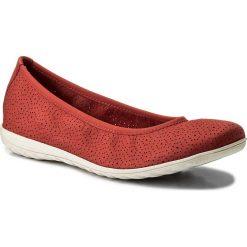 Baleriny CAPRICE - 9-22105-20 Red Nubuc 544. Czerwone baleriny damskie Caprice, z nubiku. W wyprzedaży za 179,00 zł.