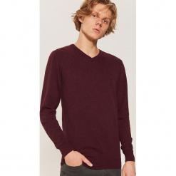 Sweter basic - Bordowy. Czerwone swetry klasyczne męskie House, l. Za 69,99 zł.