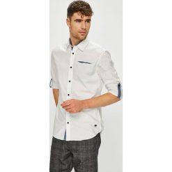 Jack & Jones - Koszula. Szare koszule męskie na spinki Jack & Jones, l, z bawełny, z klasycznym kołnierzykiem, z długim rękawem. W wyprzedaży za 139,90 zł.