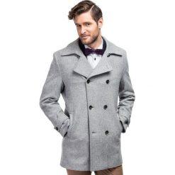 Płaszcz OLIVIERO PSPE000010. Brązowe płaszcze na zamek męskie Giacomo Conti, m, eleganckie. Za 799,00 zł.