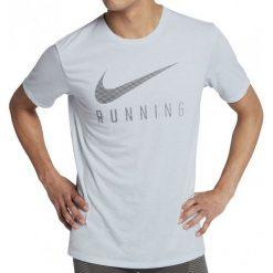 Nike Koszulka Do Biegania M Nk Dry Tee Dbl Swoosh L. Szare koszulki do biegania męskie Nike, l, z materiału, dri-fit (nike). W wyprzedaży za 79,00 zł.
