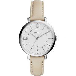Zegarek FOSSIL - Jacqueline ES3793  Beige/Silver. Brązowe zegarki damskie Fossil, ze stali. Za 495,00 zł.