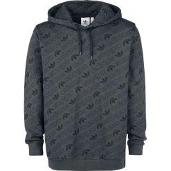 Bluzy męskie: Adidas Trefoil AOP Hoodie Bluza z kapturem ciemnoszary (Anthracite)
