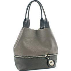 Torebki klasyczne damskie: Skórzana torebka w kolorze szaro-antracytowym – (G)19 cm