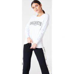 Bluzy damskie: Calvin Klein Bluza Core Fit 78 – White