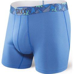 Bokserki męskie SAXX Quest 2.0 Pure Blue. Niebieskie bokserki męskie marki Astratex, z bawełny. Za 110,99 zł.