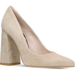 Czółenka INGRID. Szare buty ślubne damskie marki Graceland, z materiału, na obcasie. Za 199,90 zł.