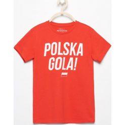 T-shirt polska gola - Czerwony. Czerwone t-shirty chłopięce Reserved. W wyprzedaży za 19,99 zł.