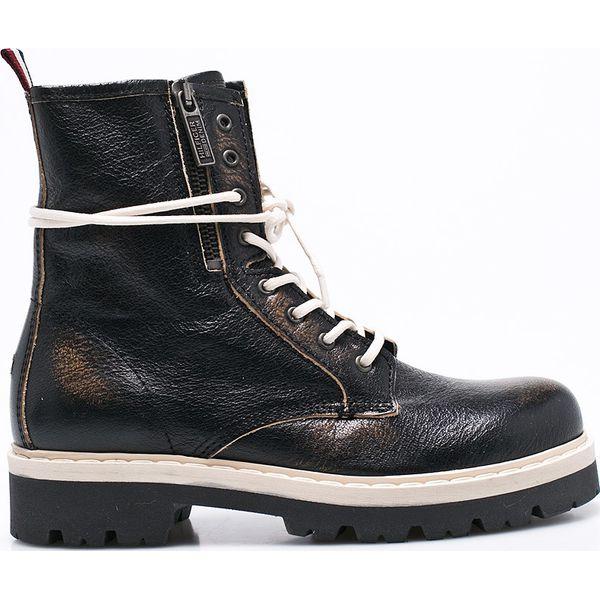 8db3ac7df0e03 Hilfiger Denim - Botki - Czarne buty zimowe damskie marki Hilfiger ...