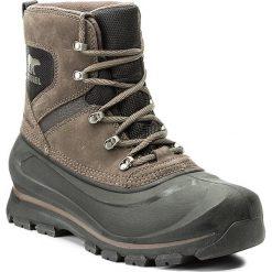 Śniegowce SOREL - Buxton Lace NM2737 Major/Black 245. Czarne śniegowce męskie Sorel, z gumy. W wyprzedaży za 399,00 zł.