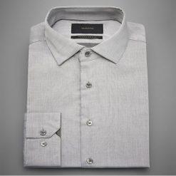 Koszula regular fit - Jasny szar. Szare koszule męskie marki Reserved, l, z bawełny. Za 69,99 zł.