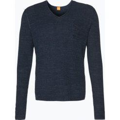 Swetry klasyczne męskie: BOSS Casual – Sweter męski – Akatus, niebieski