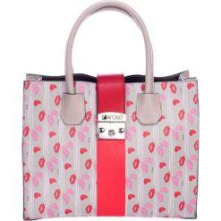 Torebki klasyczne damskie: Skórzana torebka w kolorze taupe – (S)33 x (W)40 x (G)12 cm