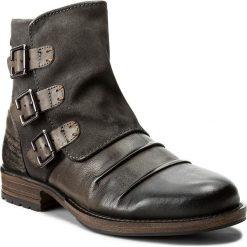 Kozaki LANQIER - 39A801 Szaro-Brązowy. Szare buty zimowe męskie Lanqier, z materiału. W wyprzedaży za 229,00 zł.