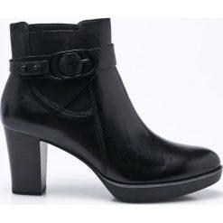 Tamaris - Botki. Szare buty zimowe damskie marki Tamaris, z materiału, z okrągłym noskiem. W wyprzedaży za 269,90 zł.