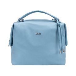 TORBA SHOPPER BŁĘKITNA AUBREY. Niebieskie shopper bag damskie Felice, w paski, ze skóry ekologicznej, na ramię, duże. Za 89,90 zł.