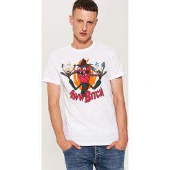 T-shirty męskie: T-shirt z nadrukiem rick and morty – Biały