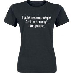 Morning People Koszulka damska czarny. Czarne bluzki asymetryczne Morning People, xxl, z nadrukiem, z okrągłym kołnierzem. Za 54,90 zł.
