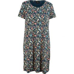 Sukienka shirtowa w kwiaty bonprix ciemnoniebieski w kwiaty. Niebieskie sukienki marki bonprix, w kwiaty. Za 74,99 zł.