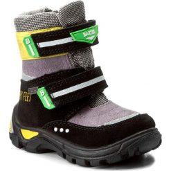 Buty zimowe chłopięce: Śniegowce BARTEK – 21474-05K Czarny Szary