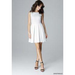 Sukienki: Sukienka L006 Ecru