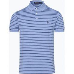 Polo Ralph Lauren - Męska koszulka polo, niebieski. Szare koszulki polo marki Polo Ralph Lauren, z bawełny. Za 349,95 zł.