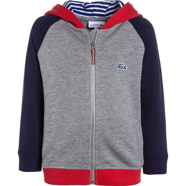 119c1b19609c63 Lacoste Bluza rozpinana grey - Szare bluzy męskie Lacoste, z bawełny. Za  379,00 zł. - Bluzy męskie - Odzież męska - Odzież - myBaze.com