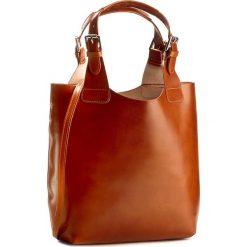 Torebka CREOLE - RBI117  Koniak. Brązowe torebki klasyczne damskie marki Creole, ze skóry, duże. W wyprzedaży za 269,00 zł.