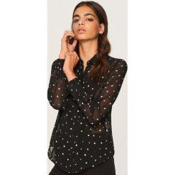 Koszula w kropki - Wielobarwn. Brązowe koszule damskie marki Reserved, w kropki. W wyprzedaży za 39,99 zł.