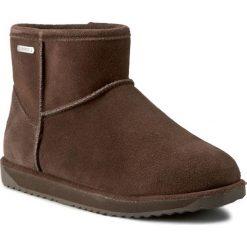 Buty EMU AUSTRALIA - Paterson Mini W10946 Chocolate 2016. Brązowe buty zimowe damskie marki EMU Australia, z gumy, za kostkę. W wyprzedaży za 459,00 zł.