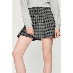 Spódniczki: Żakardowa spódnica w kratkę - Wielobarwn