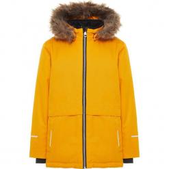 """Kurtka zimowa """"Snow08"""" w kolorze żółtym. Żółte kurtki chłopięce zimowe marki Name it Mini & Kids. W wyprzedaży za 185,95 zł."""