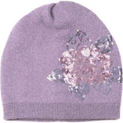 Czapka damska Cekinowy kwiat fioletowa. Fioletowe czapki zimowe damskie marki Art of Polo. Za 62,90 zł.