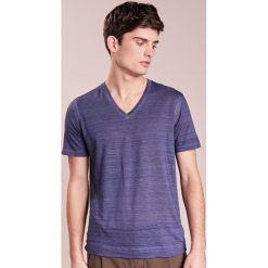 T-shirty męskie: 120% Lino UOMO Tshirt basic dark blue
