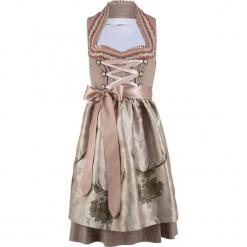 Sukienka ludowa ze stójką bonprix zielonoszaro-beżowy w kropki. Niebieskie sukienki marki ARTENGO, z elastanu, ze stójką. Za 399,99 zł.